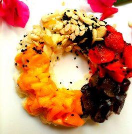 Frushi doughnut..(vegetarian fasting cake)