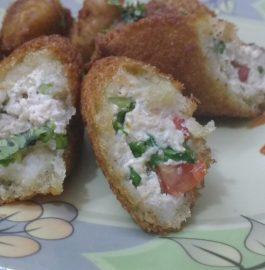Hung Curd Bread Rolls - Tasty Snack