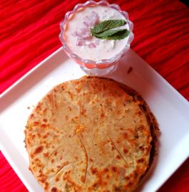 Paneer Mix Veggies Paratha - Yummy Bite