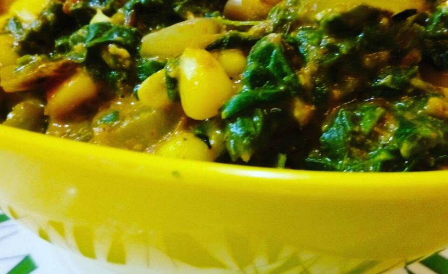 Palak Corn Bhaji Recipe