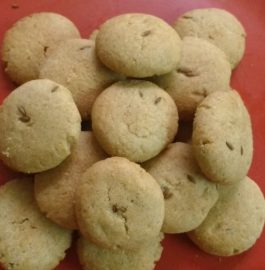 Wheat Flour And Cumin Cookies Recipe