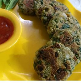 Spinach Onion Cutlets - Yummy Snack