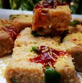 Rava Squares Snack Recipe