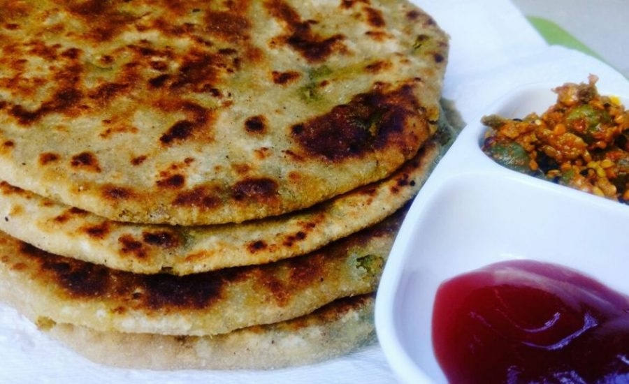 Green Chickpeas/ Choliya Paratha Recipe