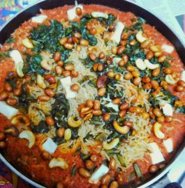 Tomato Spinach Pulav Recipe