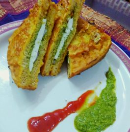 Bread Pakora With Paneer Stuffing Recipe