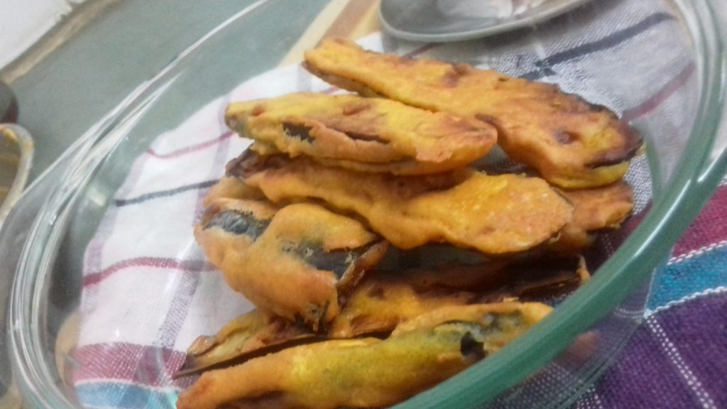 Beguni Or Brinjal Fritters