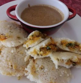 Sprouted Moong Stuffed Idli Recipe