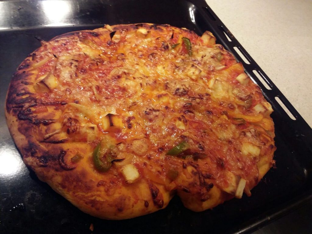 Homemade Vegetable Pizza Recipe
