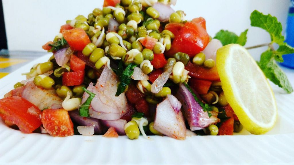 Moong Sprouts Salad Recipe