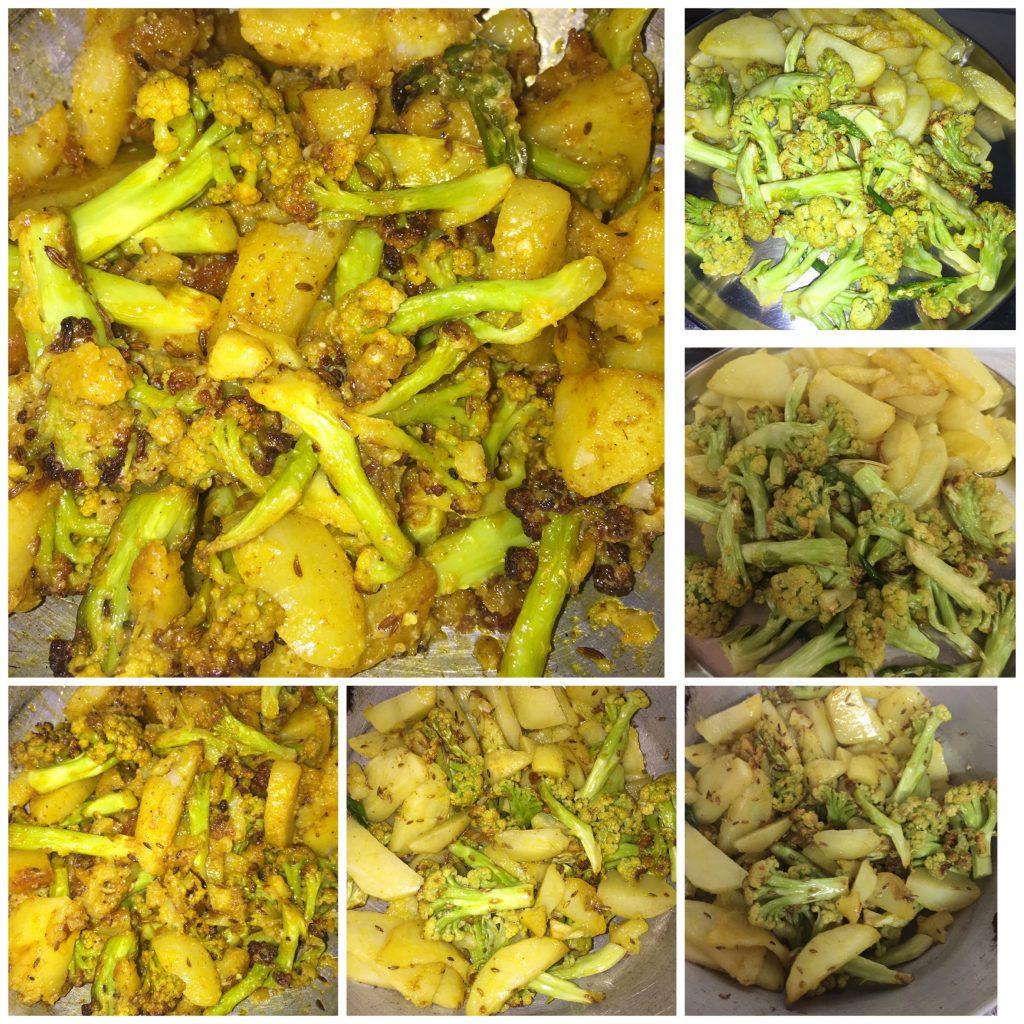 Creamy Fried Aloo Gobhi Recipe