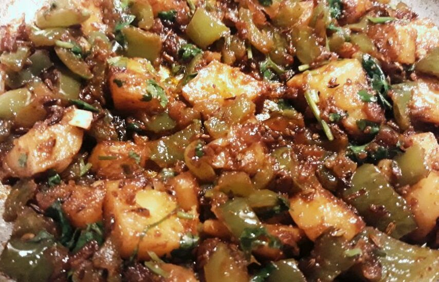 Capsicum Aloo Curry Recipe