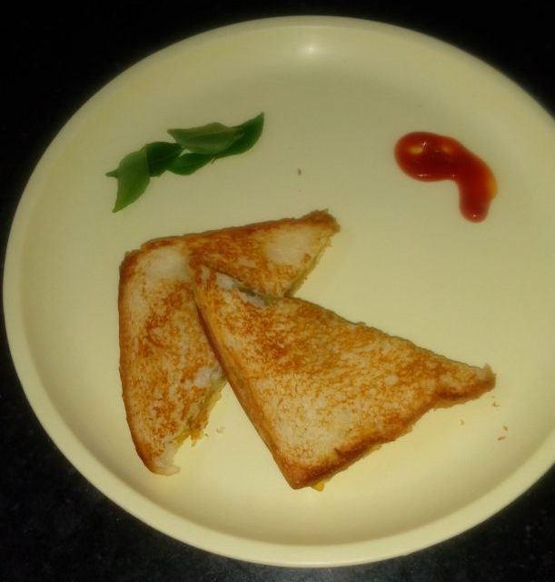 Brown Bread Veg Sandwich Recipe