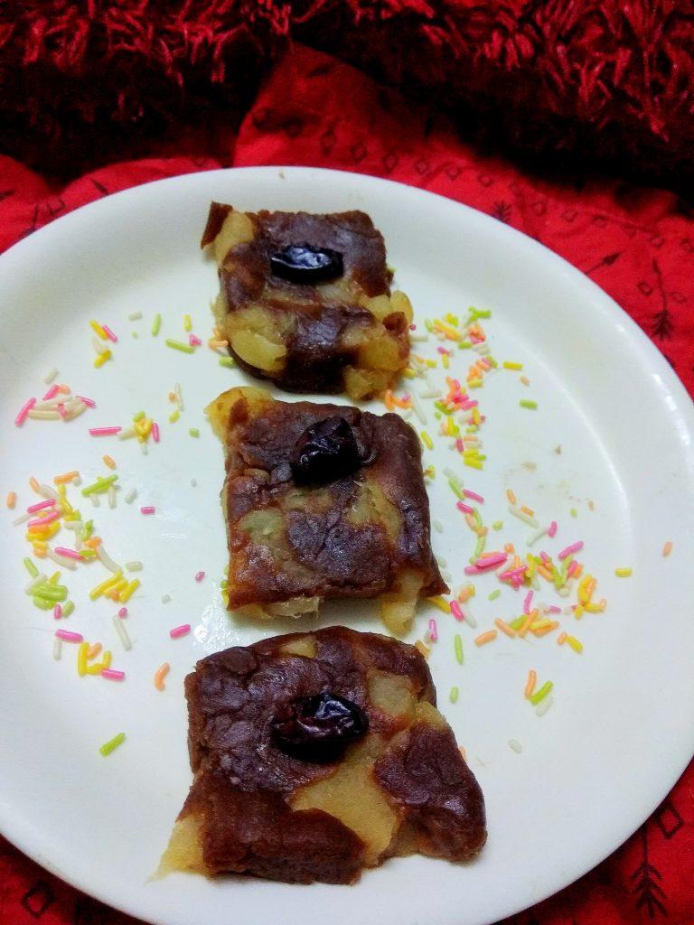Apple Biscuits Barfi Recipe