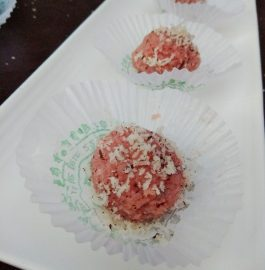 Rose Coconut Laddu Recipe