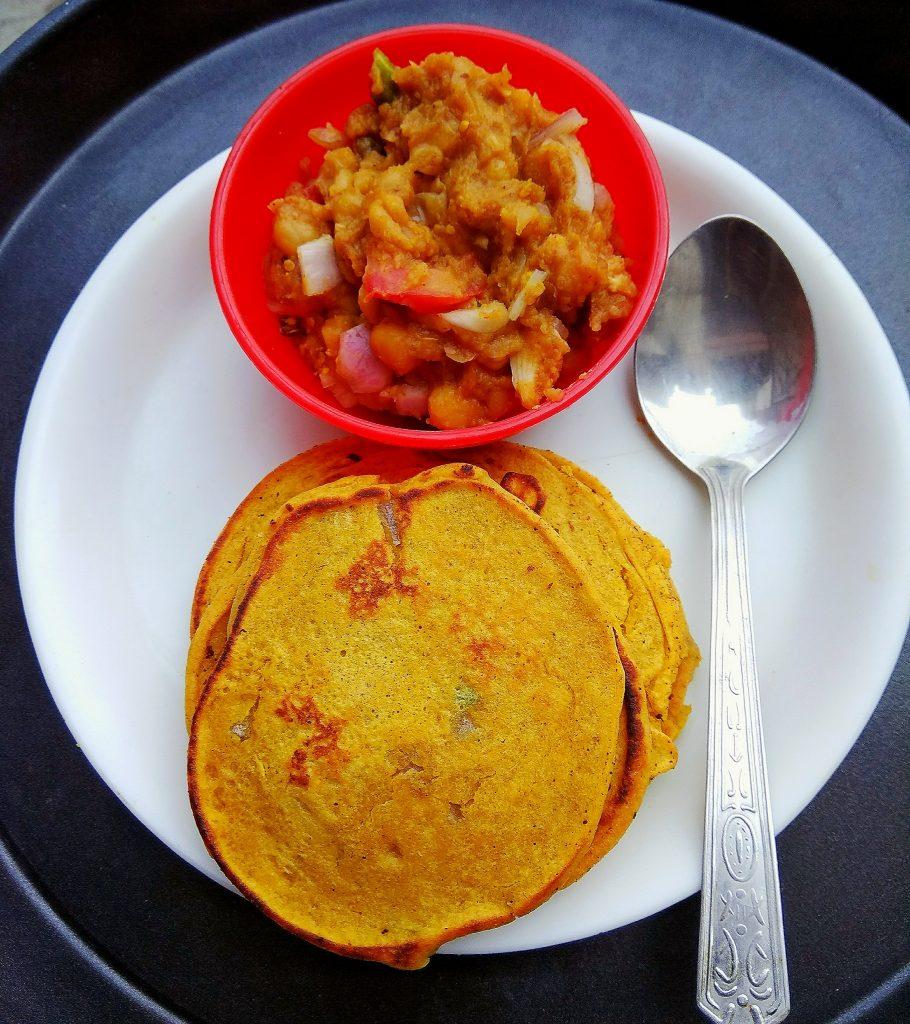 Pancake With Chole Recipe