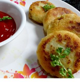 Stuffed Hung Curd Rice Cutlets Recipe