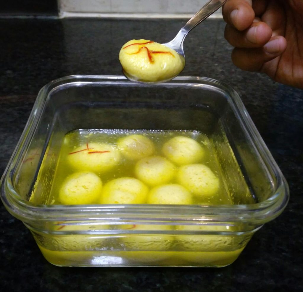 Homemade Rasgullas in 30 minutes