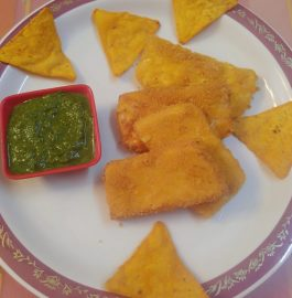 Paneer Pakora With Nachos Coating Recipe