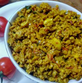 Soya Granules Bhurji Recipe