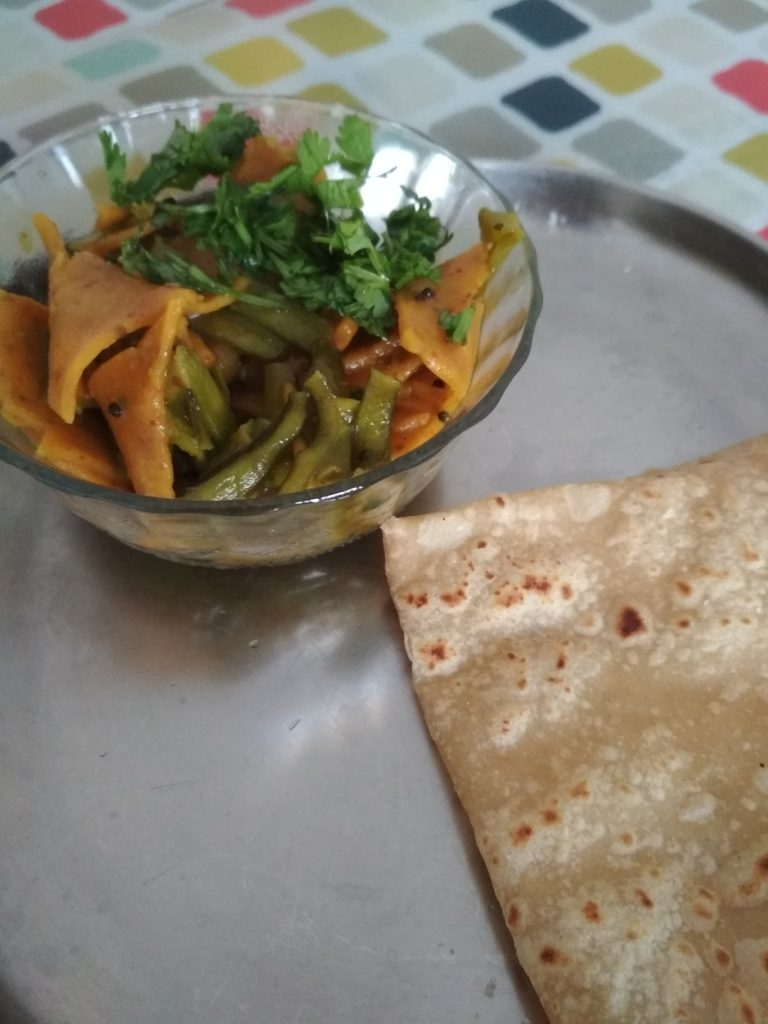 Guar Dhokli Nu Shaak Recipe
