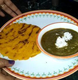 Sarso Ka Saag Aur Makki Ki Roti Recipe