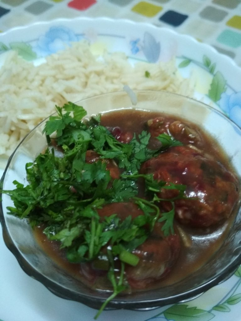 Roasted Vegetable Manchurian Recipe