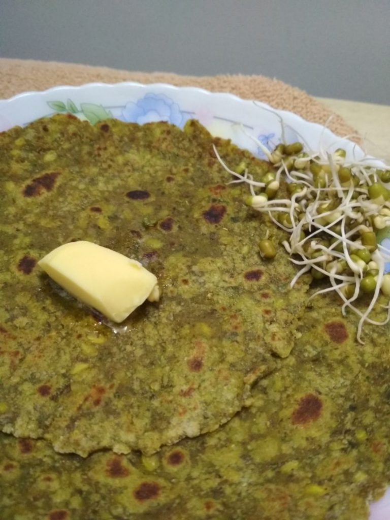Sprouts Moong Bean Paratha Recipe