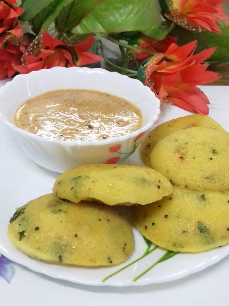 Spicy Idlis With Groundnut Chutney Recipe