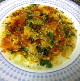 Cheesy Veggie Dosa or Pizza Dosa Recipe