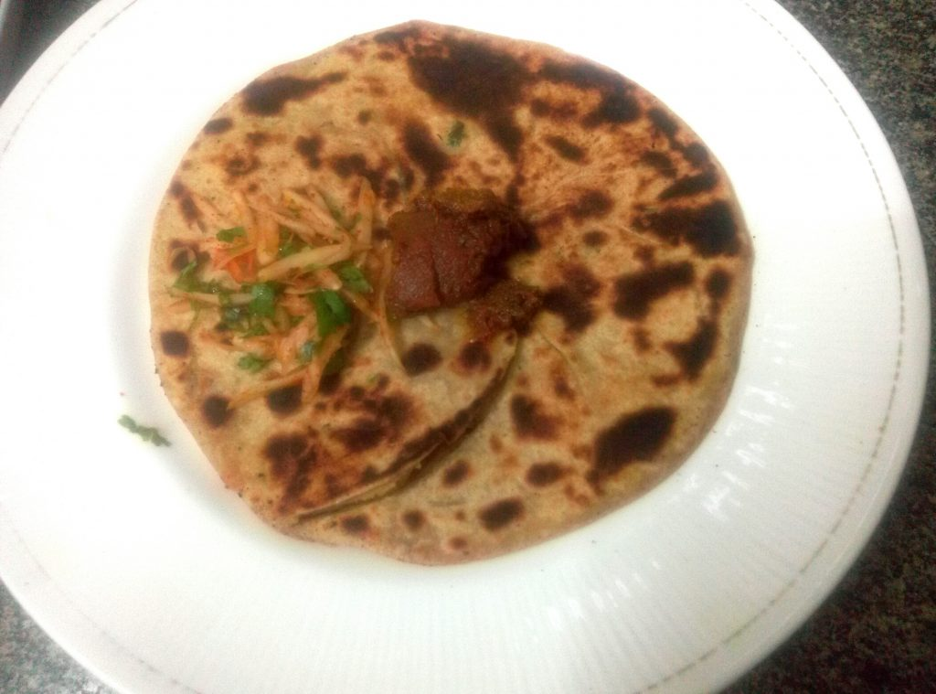Raw Papaya Paratha Recipe