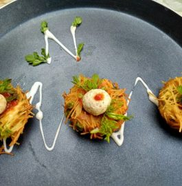 Paneer Balls In Potato Nest Recipe