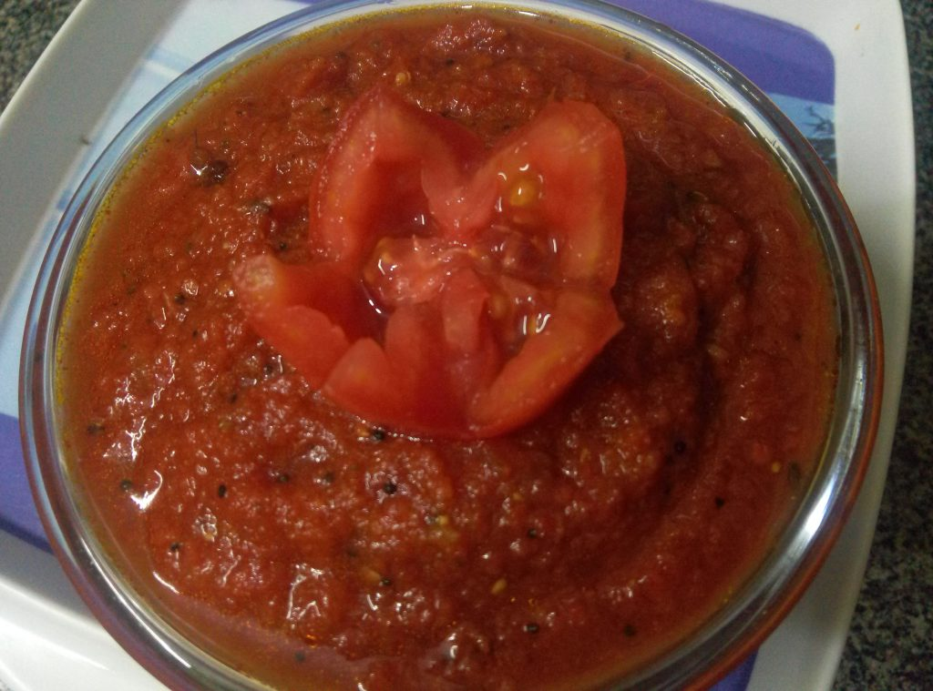 Tomato And Chilli Thokku/Chutney Recipe
