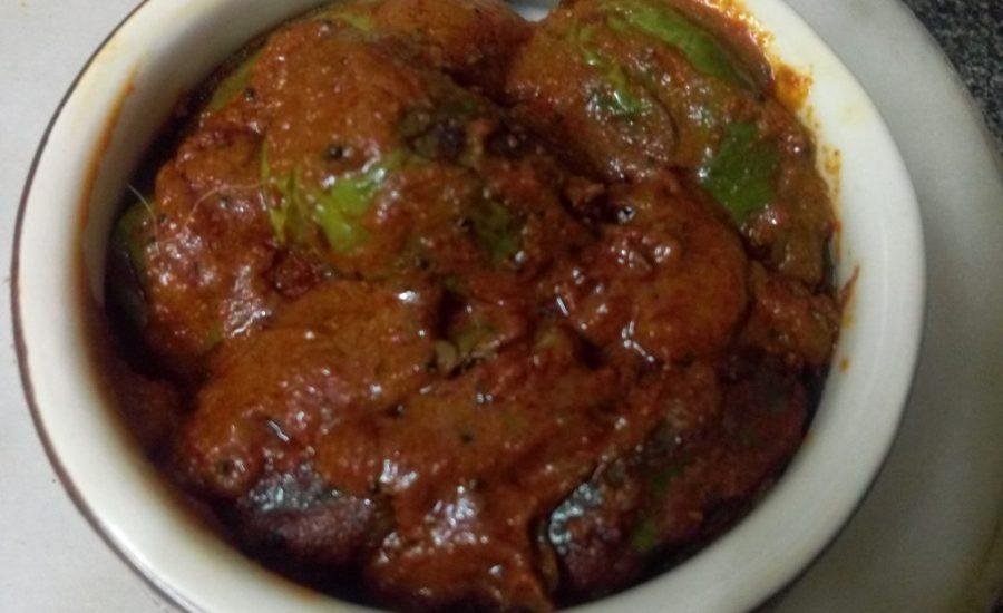 Green Baigan Masala Recipe