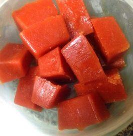 Frozen Tomato Puree Cubes Recipe