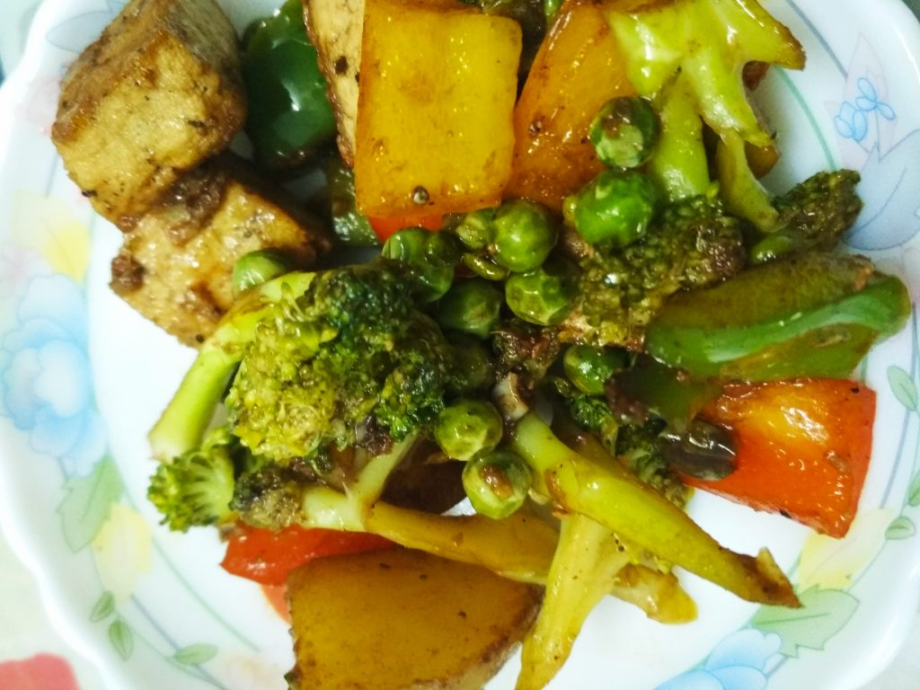 Stir Fried Vegetables With Tofu Recipe