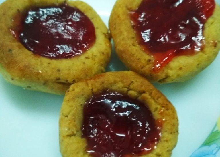 Wheat Jam Cookies Recipe