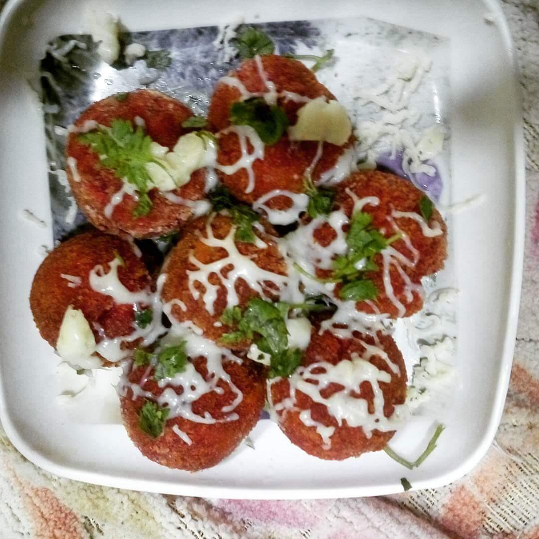 Beetroot Cheese Balls Recipe