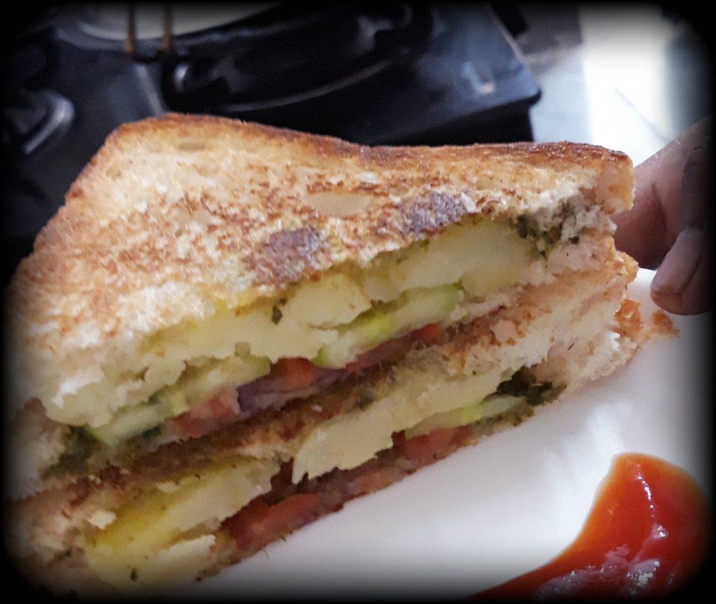 Grilled Bread Sandwich Recipe