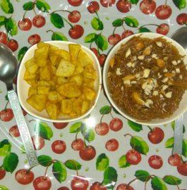 Mithi Seviya With Fried Crispy Aloo Recipe