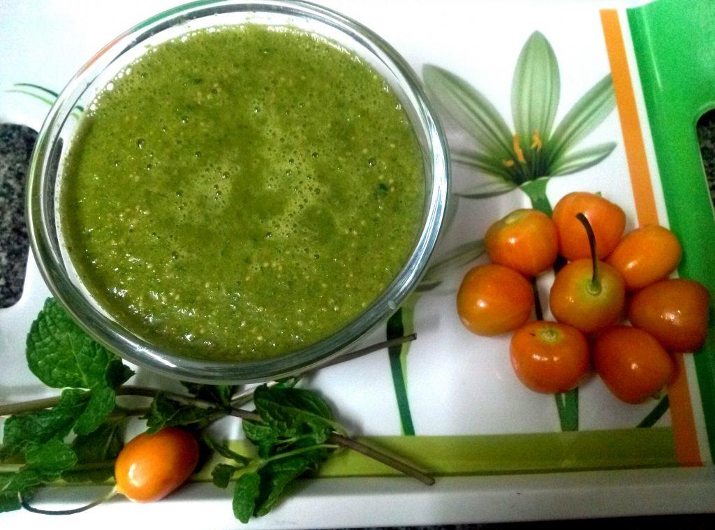 Rasbhari Chillies Mint Chutney Recipe