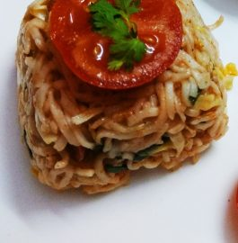 Veggies Wheat Spaghetti Recipe