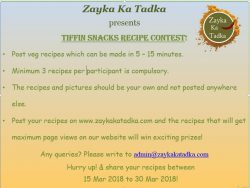 Food Recipe Contest