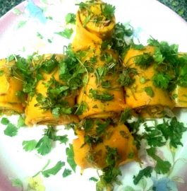 Khandvi Rolls Recipe
