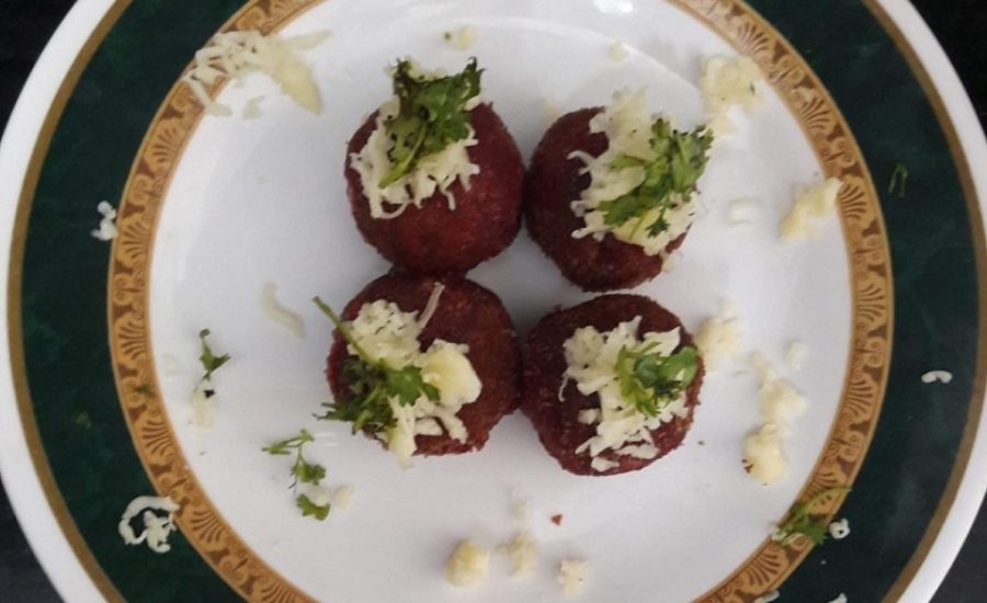Beetroot Cheese Ball Recipe