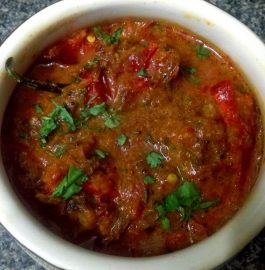 Stuffed Red Chillies Ka Salan/Curry Recipe