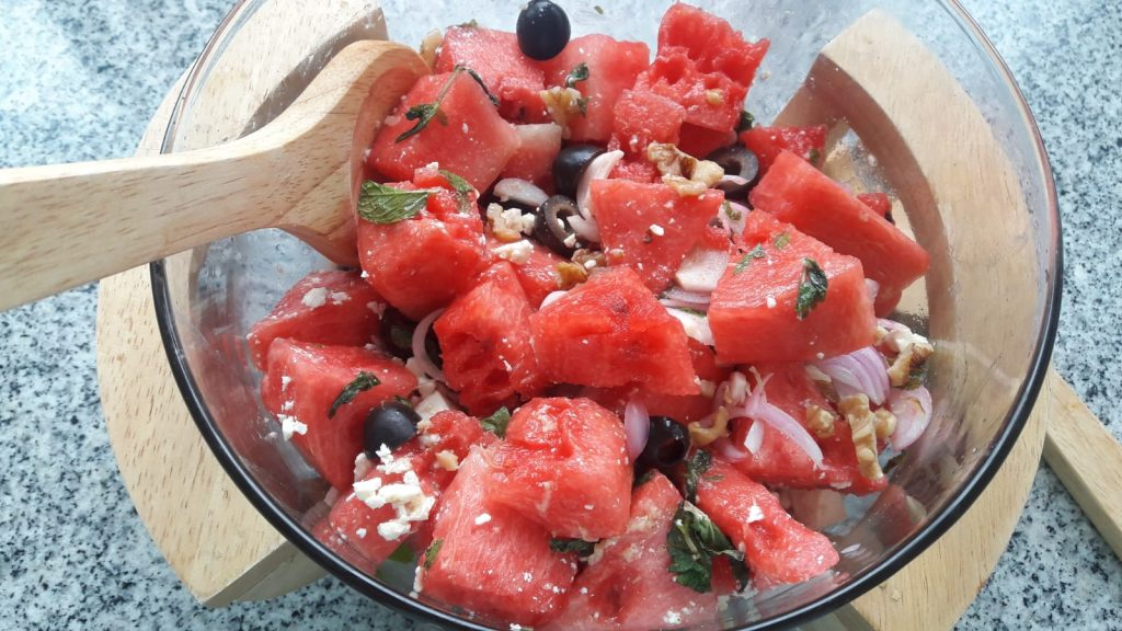 Watermelon And Feta Cheese Salad Recipe
