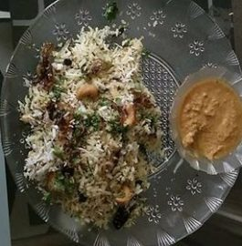 Coconut Rice With Coconut Chutney Recipe