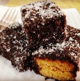 Lamington Sponge Cake | Eggless And Chocolate Special Recipe