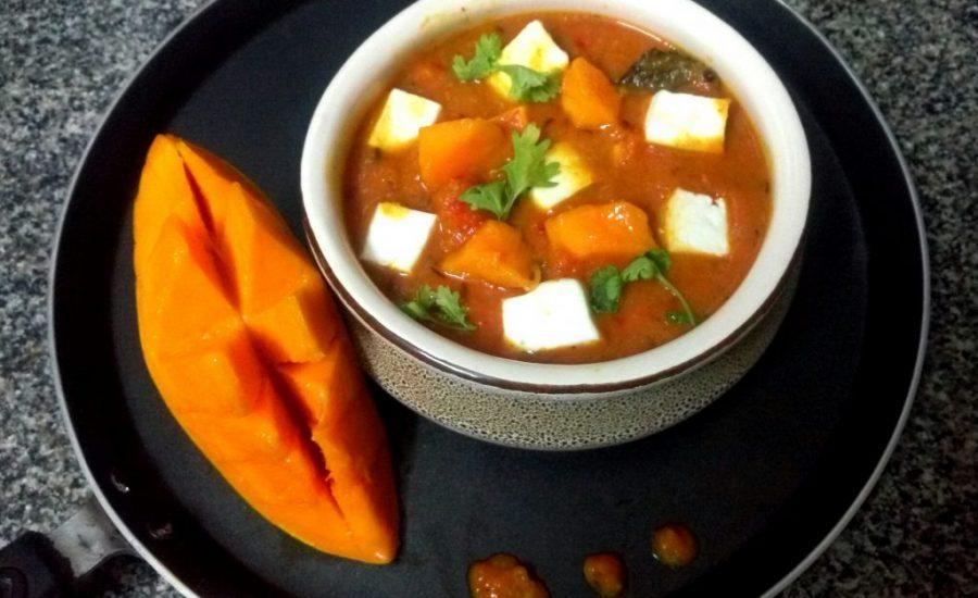 Paneer Kesar Mango Curry Recipe